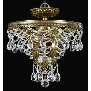 Classic Lighting Contessa 3-Light Semi-Flush Mount