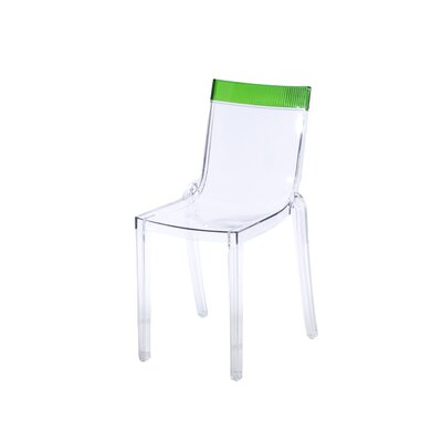 Terrific Kartell Hi Cut Chair Set Of 2 Finish Transparentgreen Inzonedesignstudio Interior Chair Design Inzonedesignstudiocom