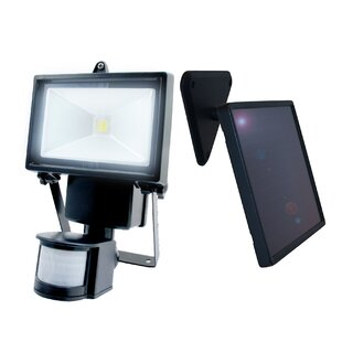 50-Watt LED Solar Power Dusk to Dawn Battery Operated Outdoor Security Flood Light with Motion Sensor