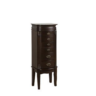 Alcott Hill Casias Transitional Jewelry Armoire in Espresso