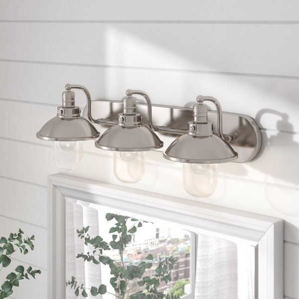Dining Room Lighting Emory Collection Emory 3 Light: Beachcrest Home Emory 3-Light Vanity Light & Reviews