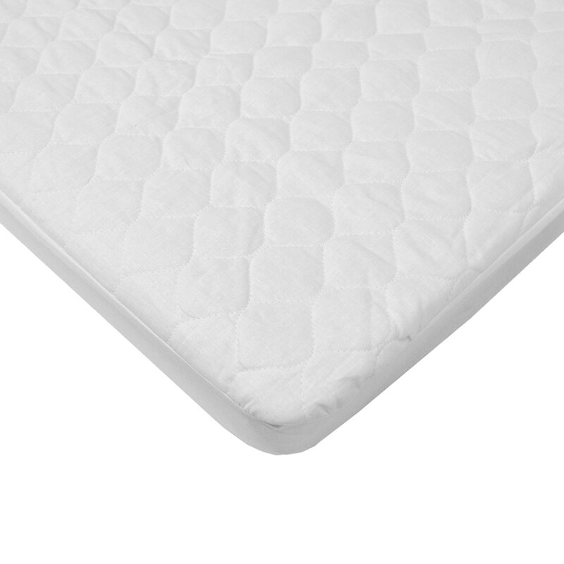 American Baby Company Waterproof Quilted Mini Crib Mattress Pad