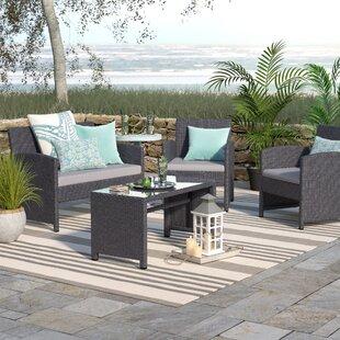 Rietta 4 Piece Sofa Set With Cushions By Beachcrest Home Good