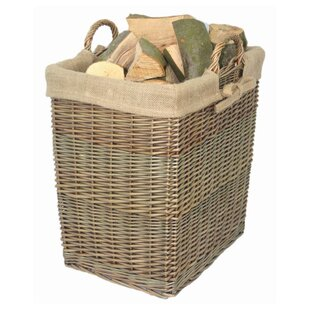 Kapisa Wicker Log Carrier With Lining By August Grove