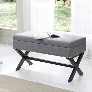 Read Reviews Fray Upholstered Storage Bench ByCharlton Home