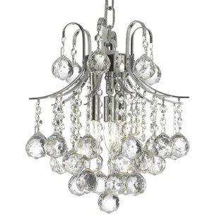 Willa Arlo Interiors Abbas 3-Light Crystal Pendant