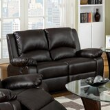 Mattea 58.25 Wide Faux Leather Pillow Top Arm Reclining Loveseat by Red Barrel Studio®