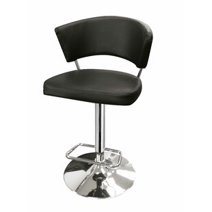 Leakey Adjustable Height Swivel Bar Stool by Orren Ellis