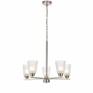 Ebern Designs Alderete 5-Light Shaded Chandelier