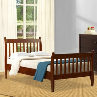 Anberlin Twin Solid Wood Sleigh Bed by Latitude Run