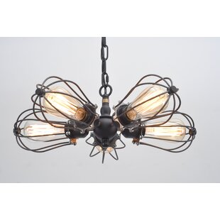 Putcha Squirrel Cage 5-Light Chandelier by 17 Stories