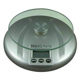 Round Tempered Glass Top Digital Kitchen Scale
