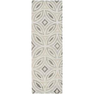 Quinn Geometric Beige/Light Gray Area Rug