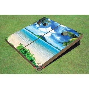 All American Tailgate Island Paradise Cornhole Board (Set of 2)