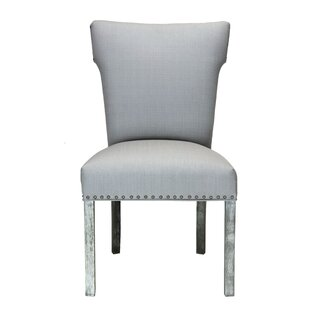 Dougherty Platinum Upholstered Dining Chair (Set of 2) by Darby Home Co