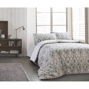 Stefan 100% Cotton 3 Piece Reversible Duvet Cover Set