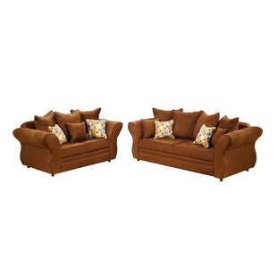 Gardena Sofa Chocolate 2 Piece Living Room Set