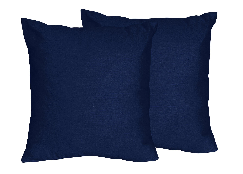 Sweet Jojo Designs Solid Navy Blue Throw Pillows Reviews Wayfair