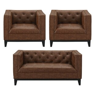 Ronald 3 Piece Living Room Set (Set of 3) by 17 Stories
