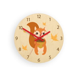 Squirrel 30cm Wall Clock By Zoomie Kids
