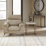 Zurcher Contemporary Upholstered 2 Piece Leather Living Room Set by Orren Ellis