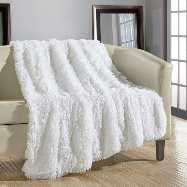 Willa Arlo Interiors Kostya Shaggy Supersoft Ultra Plush Decorative New Decorative Blankets And Throws