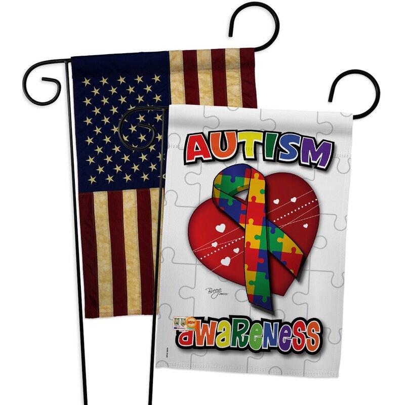 Breeze Decor Autism Awareness Impressions Decorative 2 Sided Polyester 19 X 13 In 2 Piece Garden Flag Set Wayfair