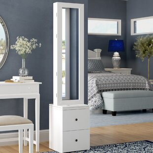 Simmerman Swivel Jewelry Armoire in White by Darby Home Co