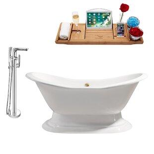Cast Iron 61 x 30 Freestanding Soaking Bathtub By Streamline Bath