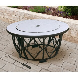 Black Raven Cast Iron Charcoal/Wood Burning Fire Pit Table By Ophelia & Co.