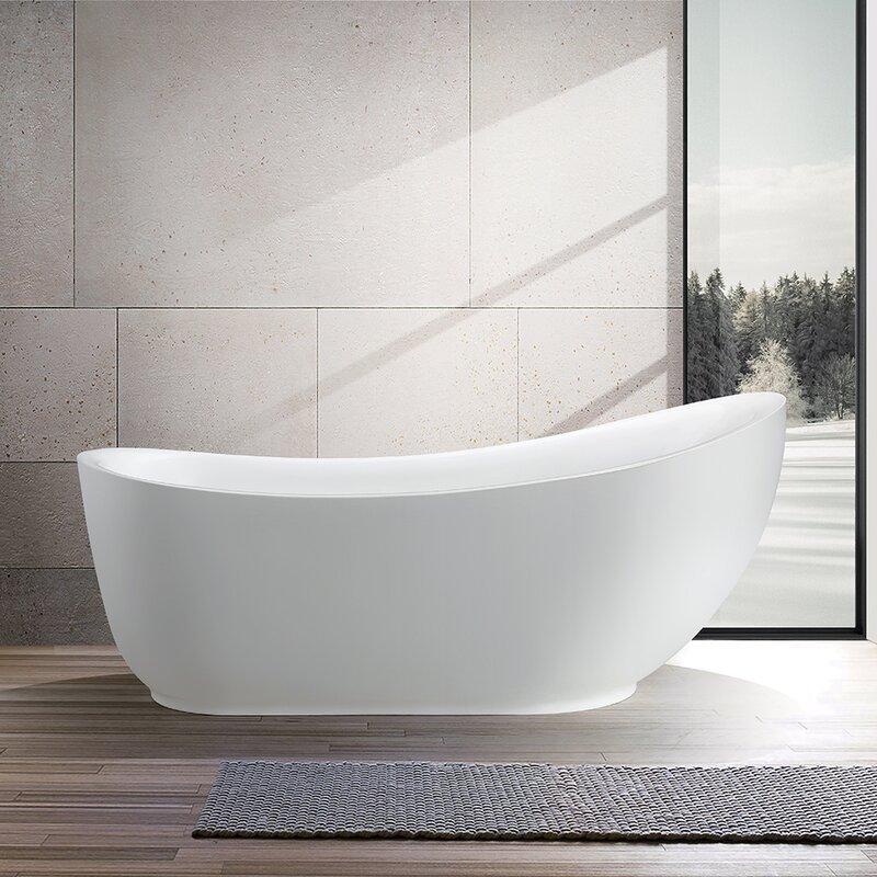 Vanity Art 71 Quot X 35 Quot Freestanding Soaking Bathtub