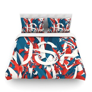 USA World Cup by Danny Ivan Featherweight Duvet Cover