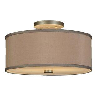 Meyda Tiffany Cilindro 2-Light Semi-Flush Mount