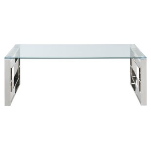 Great Price Mendell Stainless Steel Coffee Table ByHouse of Hampton
