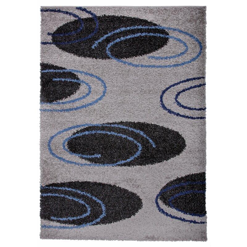 Ebern Designs Vladya Geometric Gray Area Rug Wayfair
