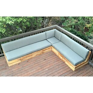Seaside Teak Patio Sectional with Sunbrella Cushions by IKsunTeak