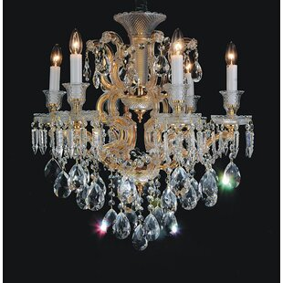Jarvis 6-Light Crystal Chandelier by Rosd..