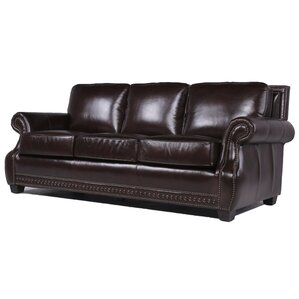 Diana Leather Sofa by Trent Austin Design