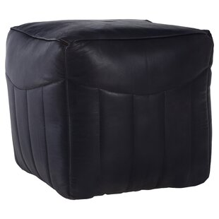 Suellen Leather Pouffe By Corrigan Studio