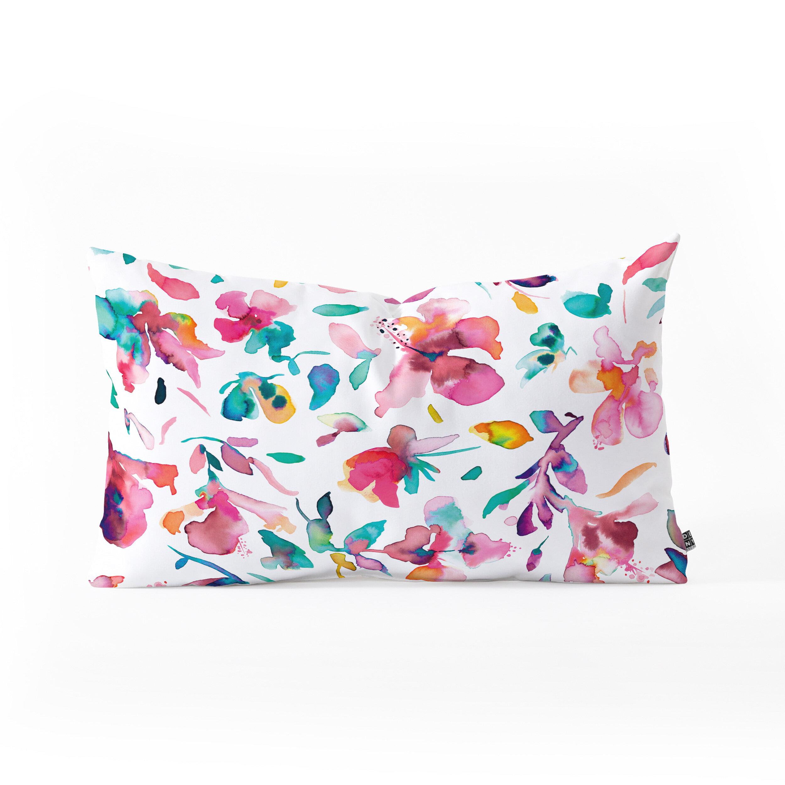 East Urban Home Ninola Design Hibiscus Floral Lumbar Pillow Wayfair