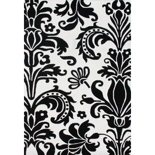 Read Reviews Ophir Hand-Tufted White/Black Area Rug By The Conestoga Trading Co.