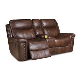 Heineman Leather Reclining Loveseat by Al..