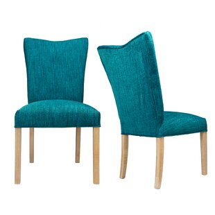 Politte Spring Seating Double Dow Upholstered Parsons Chair (Set of 2) One Allium Way