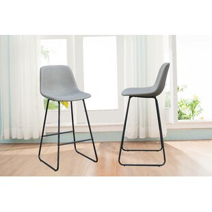Affordable Lorenz Suede 19.3 Bar Stool (Set of 2) by Union Rustic Reviews (2019) & Buyer's Guide