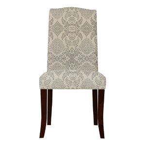Lasseter Beige/Gray Upholstered Parsons Chair (Set of 2) by Red Barrel Studio