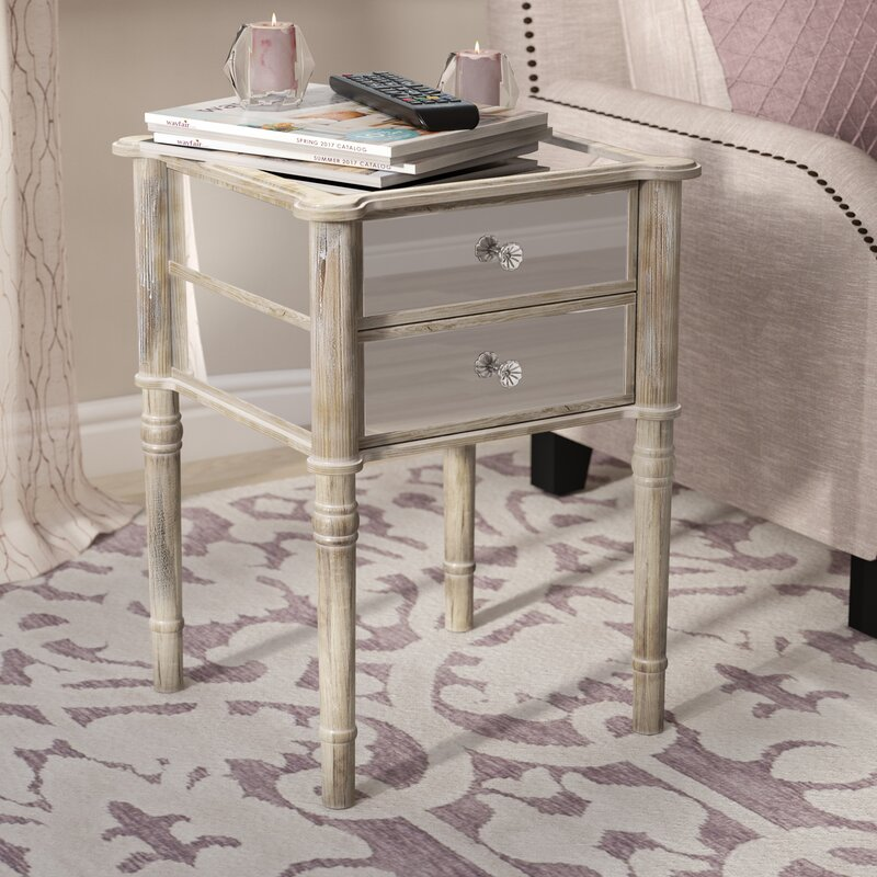 Willa Arlo Interiors Karle End Table With Storage Reviews Wayfair