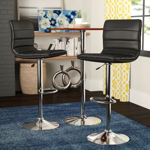 Bezanson Adjustable Height Swivel Bar Stool (Set of 2) by Orren Ellis