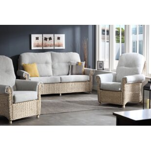 Kiara 3 Piece Conservatory Sofa Set By Beachcrest Home
