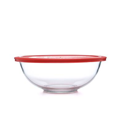 ea62426ec02 Smart Essentials 4 Qt Mixing Bowl with Red Plastic Cover. By Pyrex