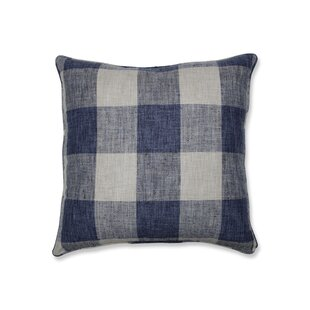 Bollinger Indoor Check Floor Pillow